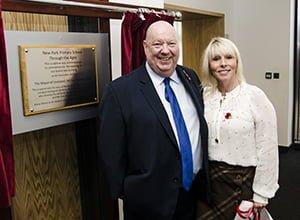 Mayor Anderson with Karen Hutchings