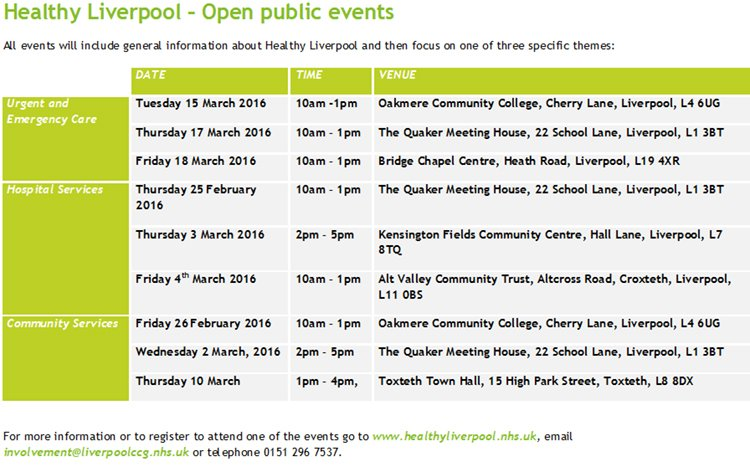 Healthy Liverpool events