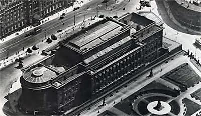 Bird's eye view - A rare pre-war photograph of St George's Hall