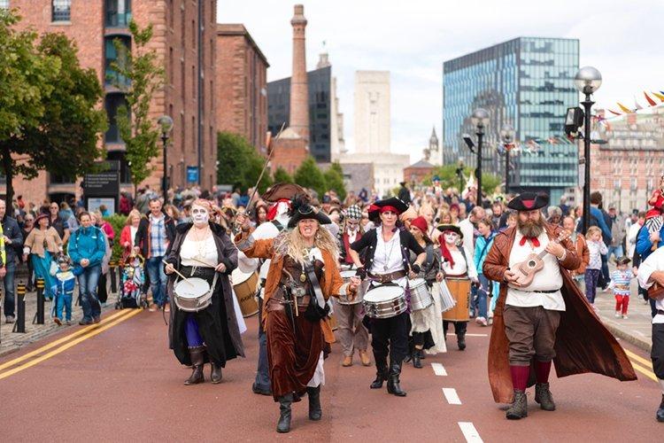 Pirate Festival 2015 at Albert Dock Liverpool