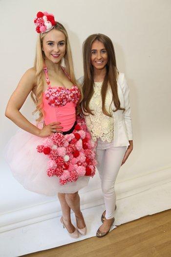 Georgia McGowan and model Jazmin Shaw