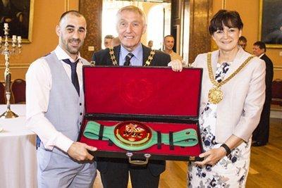 Sean Dodd, Cllr Roy Gladden & Lord Mayor Cllr Roz Gladden