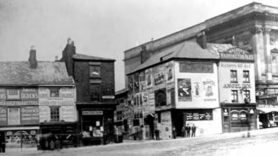 Properties remaining on Shaws Brow with the 1860 Museum standing on the right